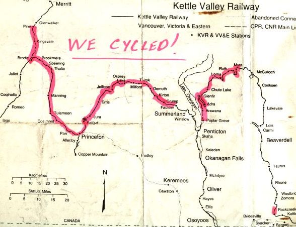 Kettle Valley Railroad Cycle  June 1996